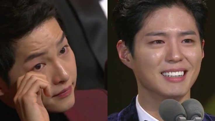 Song Joong-ki Cries During Park Bo-gum's Tearful Speech After Win At 2016 KBS Drama Awards