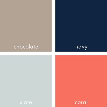 Beautiful color palette. Love the navy and coral mix. Maybe the watermelon pink instead of coral since tab did coral....