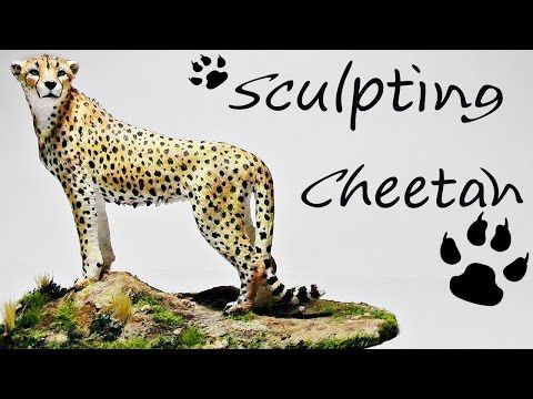 Sculpting a Realistic Cheetah polymer clay tutorial
