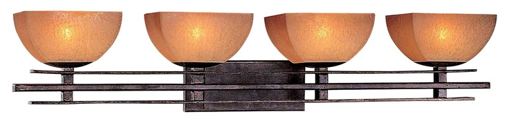 """Lineage Collection 38 1/8"""" Wide Iron Bathroom Light Fixture -"""