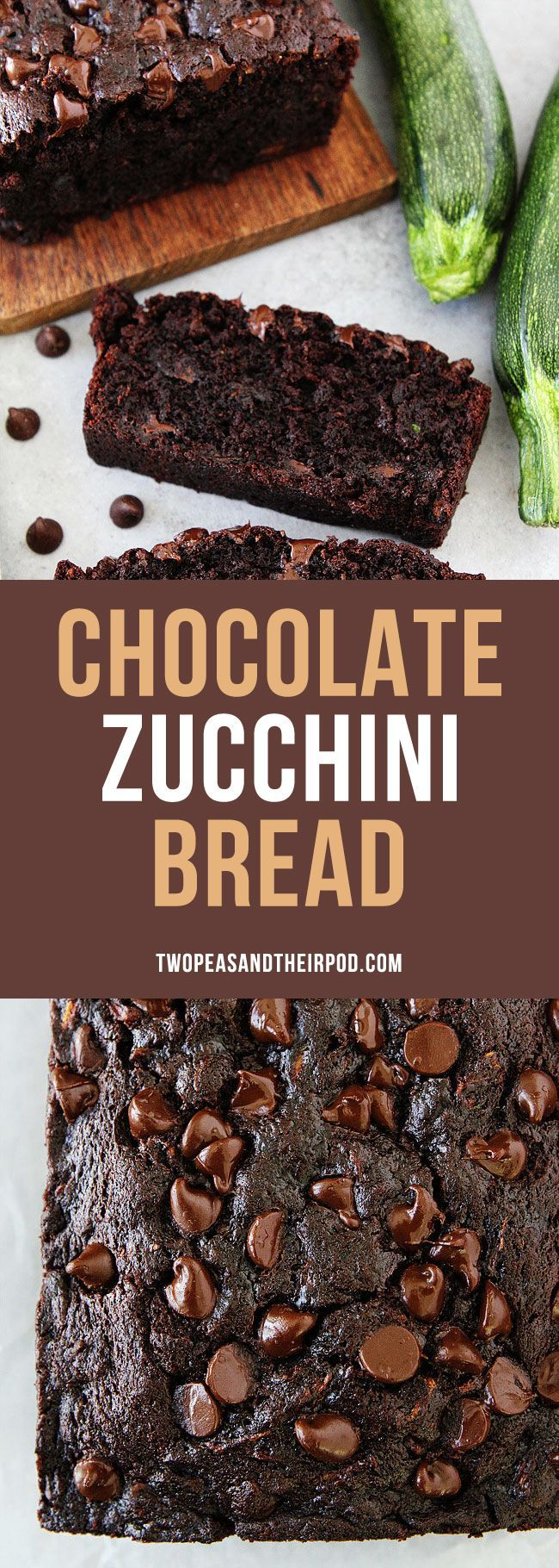 Chocolate Zucchini Bread this easy moist zucchini quick bread recipe is the BEST! #zucchini #bread #zucchinibread