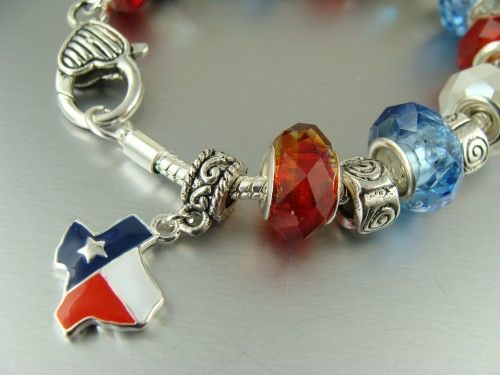Charm Bracelets Like Pandora Style Bead Bracelet Texas Ellora Jewelry On Artfire My Pinterest Charms And