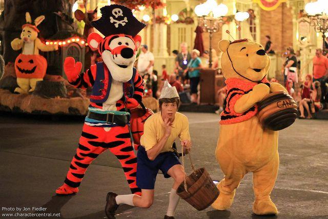 "Christopher Robin, Tigger and Pooh Bear ~ Walt Disney World - Mickey's ""Boo-to-You"" Halloween Parade"