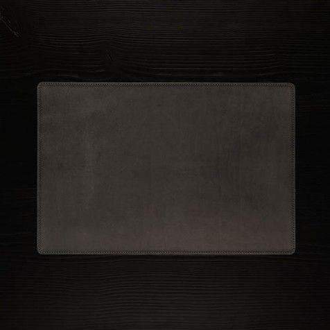 Schreibtischauflage Leder, schwarz