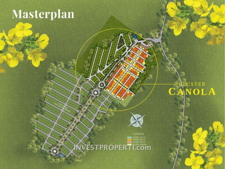 Master plan ParkVille Serpong cluster Canola