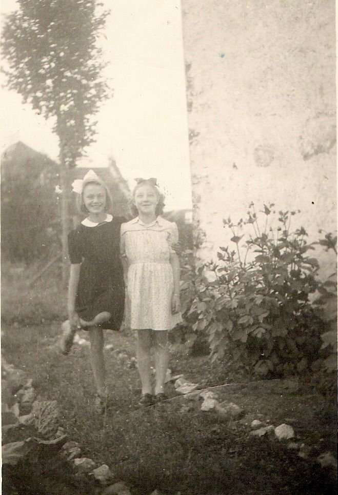 My mom and her best friend - the only surviving pic form her childhood during WWII