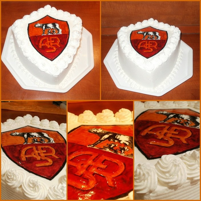 AS Roma crest cake - AS Roma címer torta
