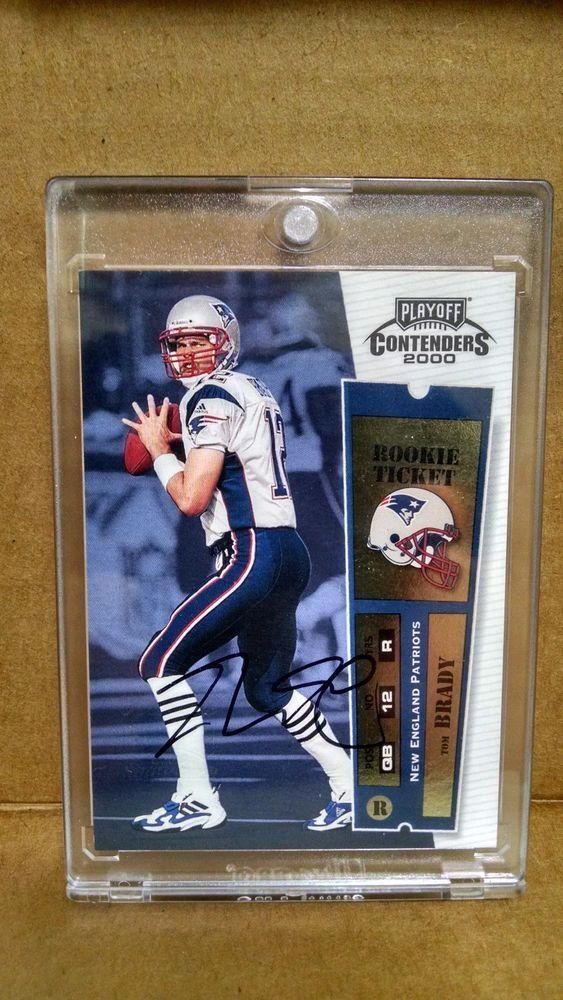 2000 Playoff Contenders #144 Tom Brady AUto Rookie Card #NewEnglandPatriots