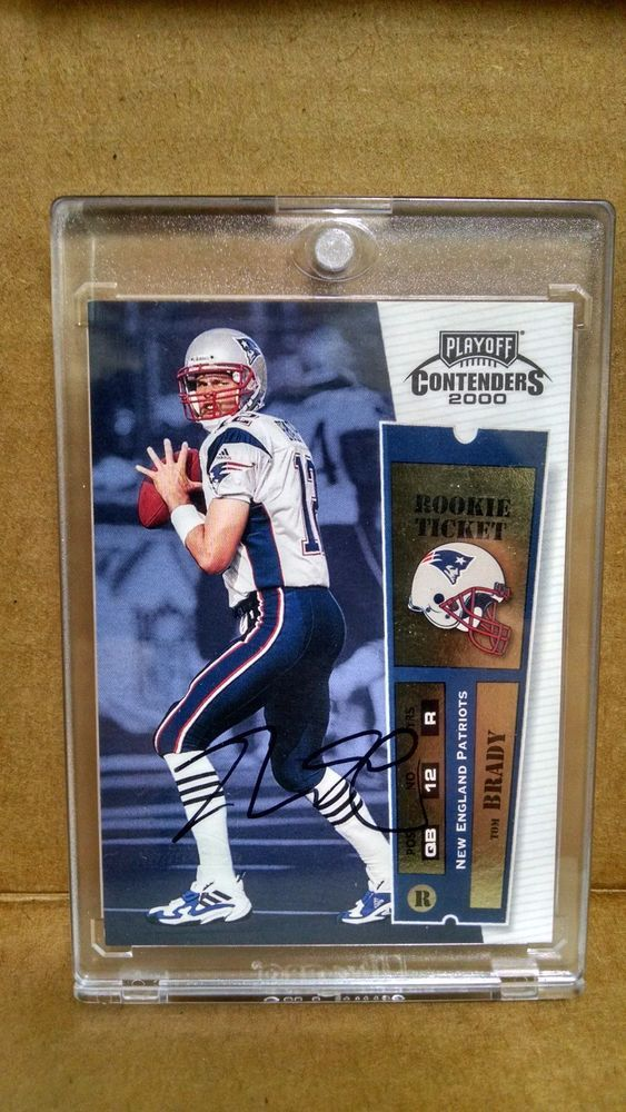 2000 Playoff Contenders #144 Tom Brady Autographed Rookie Card Signature on card #NewEnglandPatriots