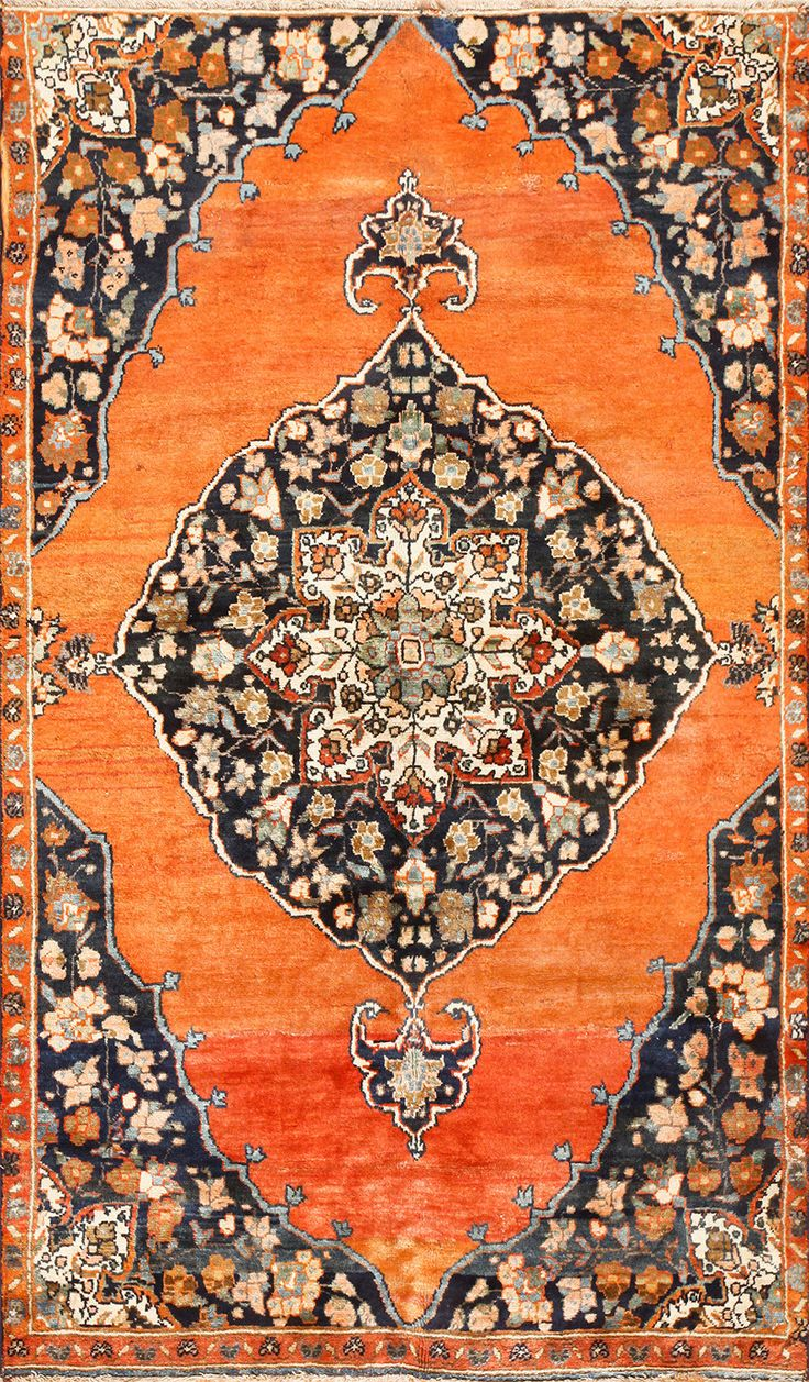 Polonaise antique oriental rugs - Central Medallion Antique Persian Malayer Rug 50498 Detail Large View By Nazmiyal