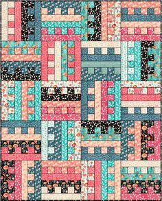 Lets Quilt Something: All Zipped Up - Free Quilt Pattern - Jelly Roll