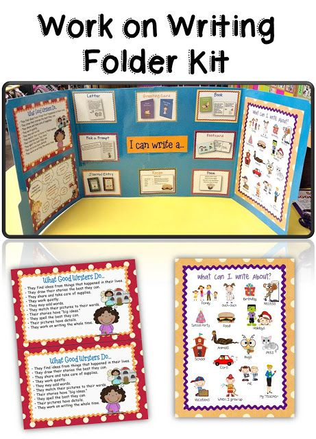 Teacherific: daily 5 work on writing folder kit