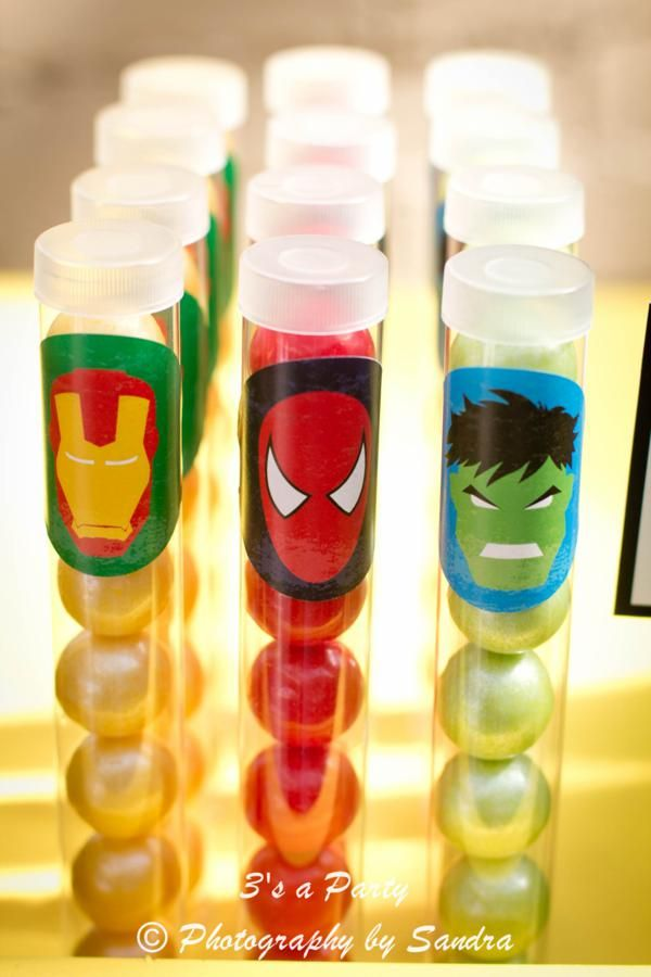 Superhero Super Hero Avengers Themed Birthday Party via Kara's Party Ideas  Comic Book Super Heroes Party  For more party ideas visit: www.fireblossomcandle.com