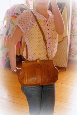VINTAGE UNIKAT Leder Tasche Handtasche Clutch Schultertasche Braun 60er 70er   eBay