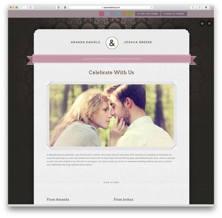 'Charlotte' wedding website theme at eWedding.com