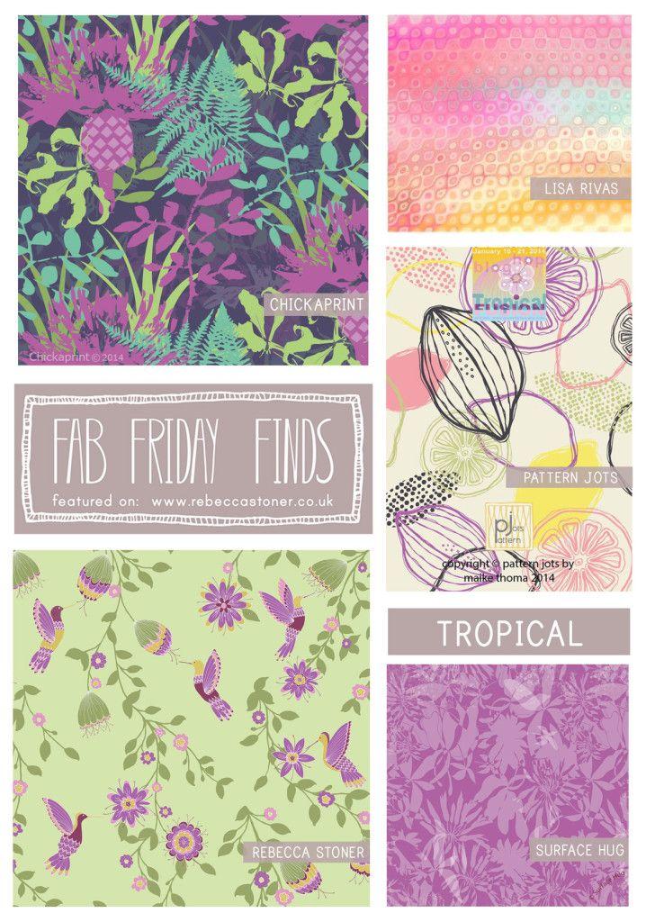 Fab Friday Finds - week 14 - Tropical -  on Rebecca Stoner www.rebeccastoner.co.uk
