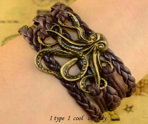 Octopus bracelet Paul great bracelet by itypeicool on Etsy, $3.99