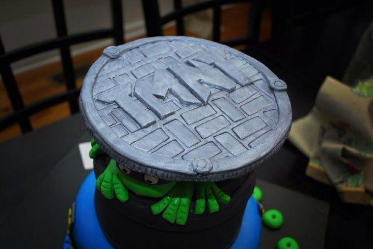 Tmnt Cake Manhole Cover My Fondant Cake Creations