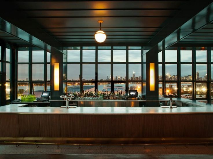 Really, the best way to get a view of Manhattan is to get a little distance from it. The Ides, located atop Brooklyn's Wythe Hotel, sits practically on the East River, offering near-unobstructed views of the Manhattan skyline. Across the street from Brooklyn Bowl and the Brooklyn Brewery, The Ides sits at a particularly nightlife-heavy corner of Williamsburg, so expect big crowds on weekends.To drink: Given the neighborhood demographics, we're not totally shocked that there's a drink that…
