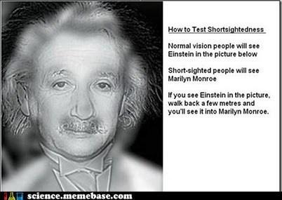 Einstein/ Marilyn Monroe. Kinda creepy. Gott arty with no glasses