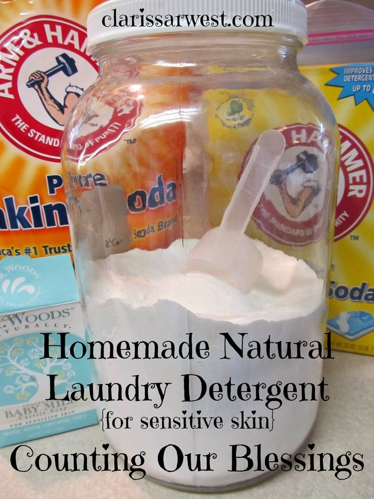 Homemade Natural Laundry Detergent for Sensitive Skin
