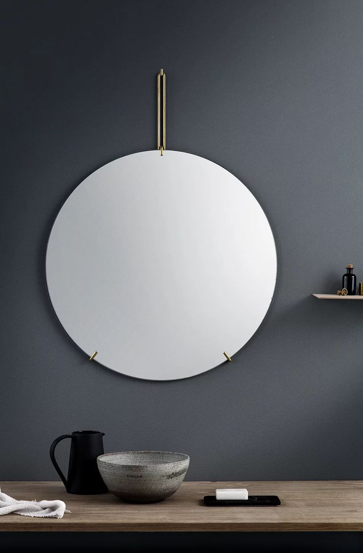 262 best images about mirrors on Pinterest | Furniture, Round ... - MIRROR is a frame-less free standing mirror held by a lightweight metal  wireform.
