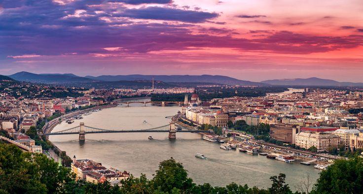 Man Made Budapest  Sky Cityscape Bridge City Hungary Wallpaper