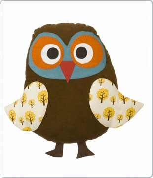 Owl pillow by Ferm Living uil