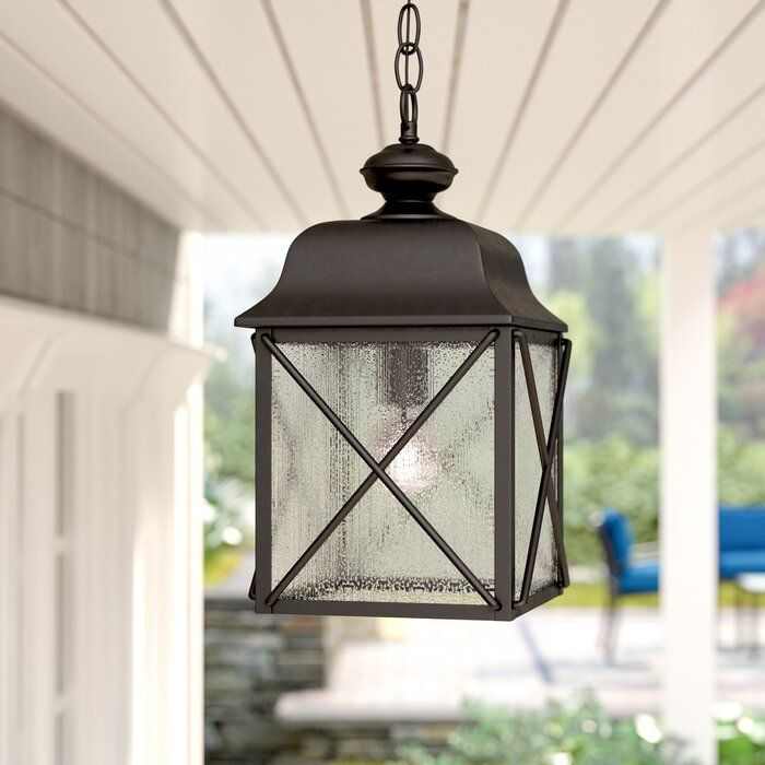 Three Posts Topeka 1 Light Outdoor Hanging Lantern Reviews Wayfair Outdoor Hanging Lights Hanging Porch Lights Outdoor Hanging Lanterns