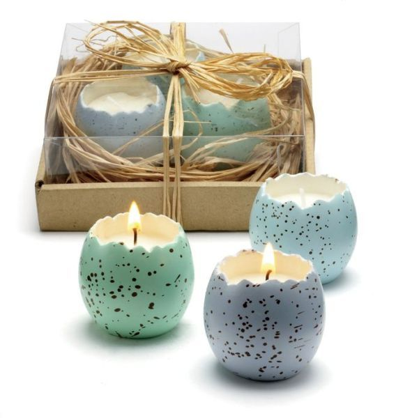Gorgeous little Cracked Egg Candles in a Nest from Barnes & Noble