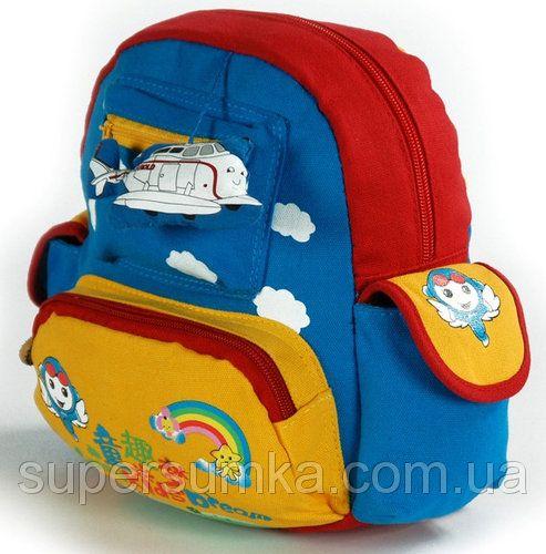 "Яркий детский рюкзак ""Самолет"" на 2 л Traum 7005-40"