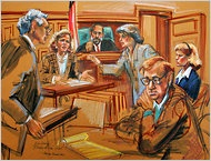 Marylin Church - Courtroom Sketch