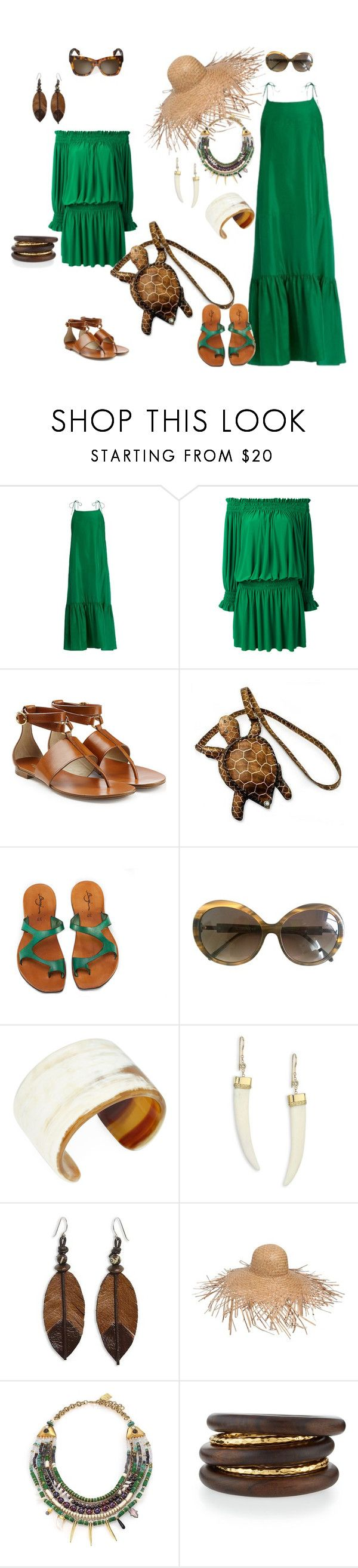 """Для города и тропиков"" by repriza ❤ liked on Polyvore featuring Loup Charmant, Norma Kamali, Michael Kors, NOVICA, Iceberg, Arthur Marder Fine Jewelry, Jacquie Aiche, Lack of Color, Lizzie Fortunato and NEST Jewelry"