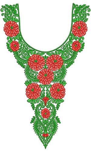 Viscose Georgette Multicolour Neck Design