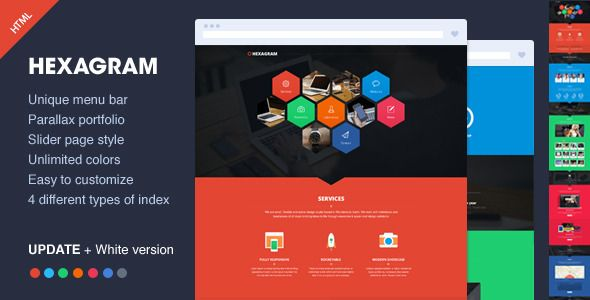 Hexagram - Unique Portfolio Template  #themeforest