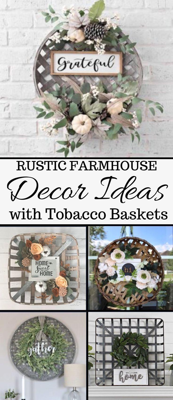 Tobacco Basket Decor Ideas My Cozy Colorado In 2020 Tobacco Basket Decor Diy Rustic Decor Rustic Diy