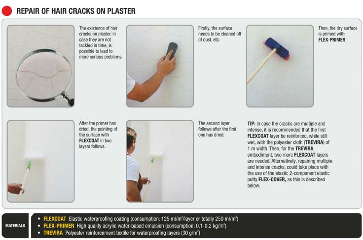 Follow ISOMAT's instructions and repair on your own hair cracks on plaster.