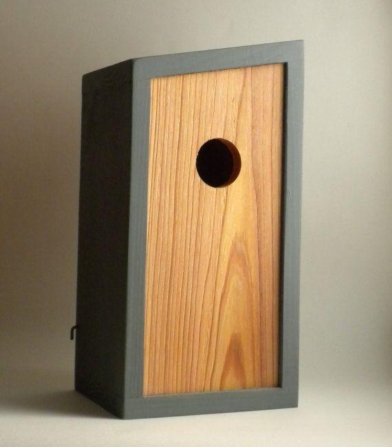 Birdhouse Modern Minimalist The Obtuse Birdhouse by twigandtimber, $35.00