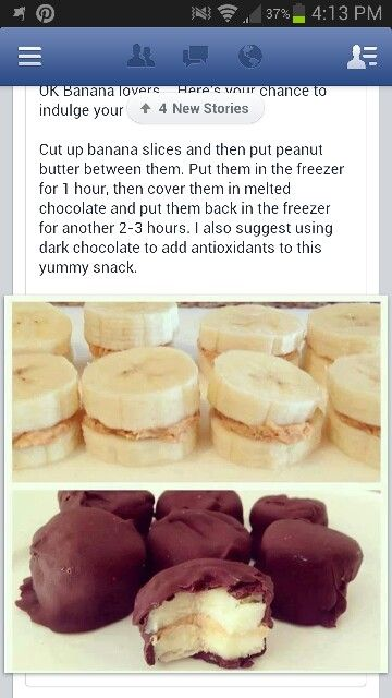 chocolate covered banana sandwiches