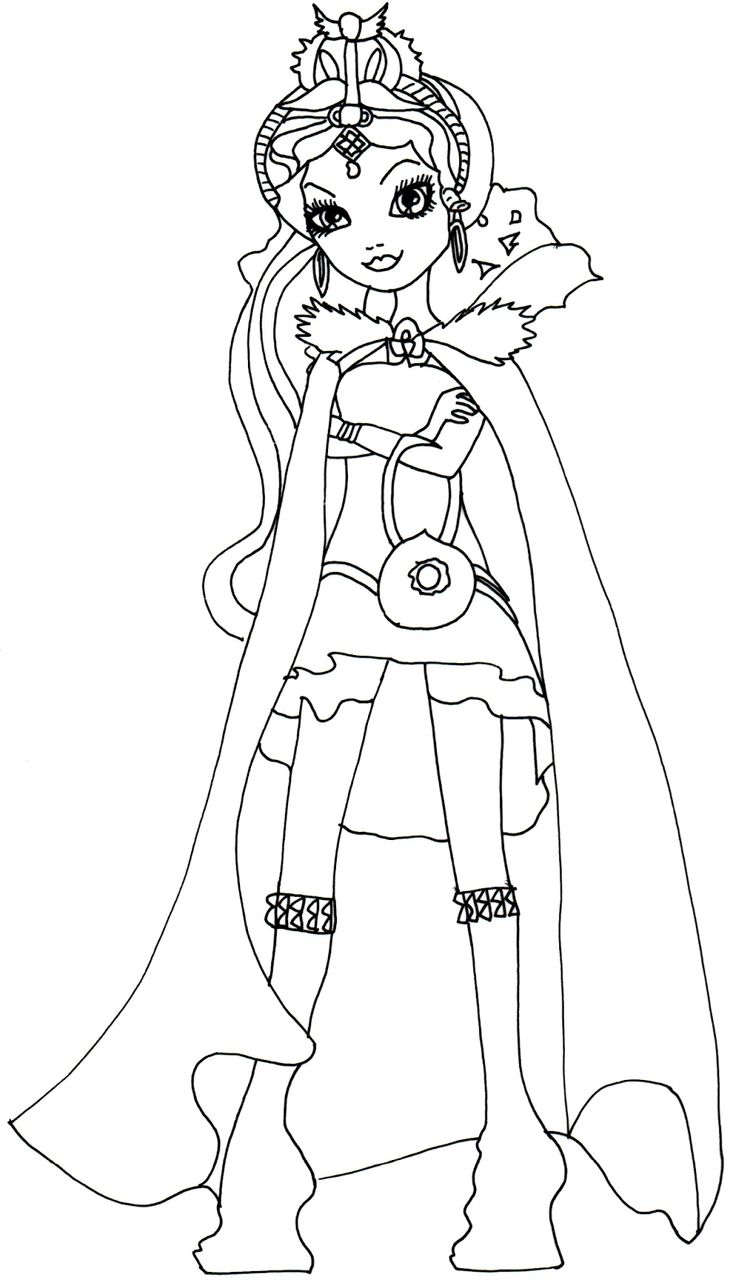 ever after high coloring pages raven queen ever after high