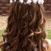 lange Haarmodelle – 30 Frisuren für Mädchen für Hochzeit und Kommunion  #frisuren #hochzeit #komm…  #langehaarmodelle #langehaaremänner #langehaareschnitt2019 #langehaareschnittglatt