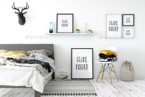 Frame Mockup in Scandinavian style Perfect for Branding your creation or business. Frame mockups good to use for shop owners, art