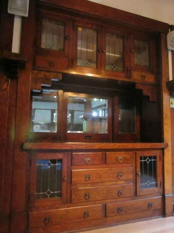 Image result for built-in carved wood buffet in an old house