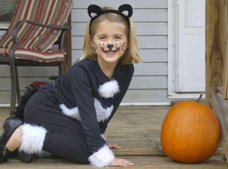 Trucco viso di Carnevale per bambini - Bambina gatto