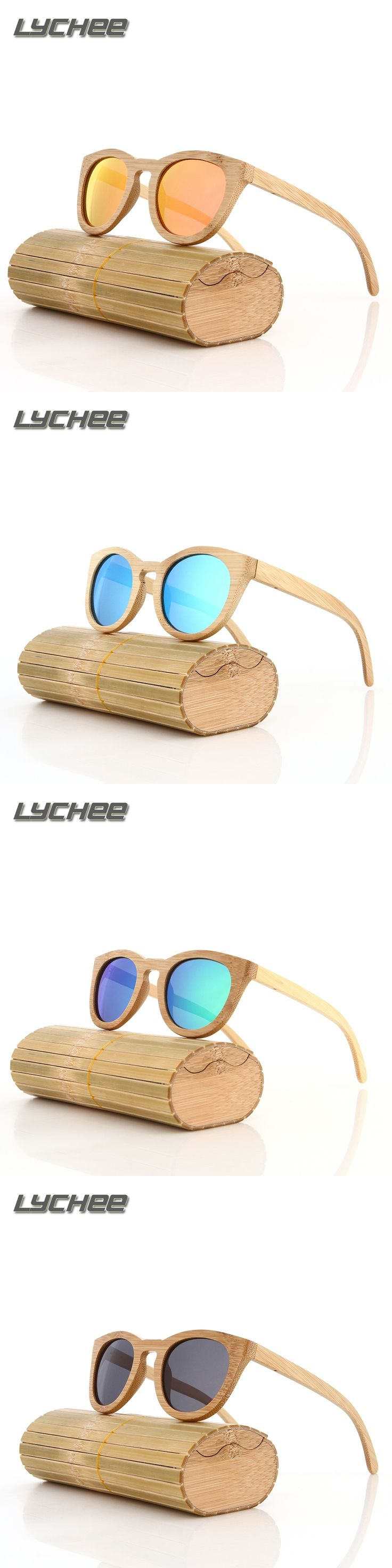 LYCHEE 2016 Bamboo Sunglasses Men Wooden glasses Women Brand Designer Original Wood Sun Glasses fo Women/Men Oculos de sol mascu