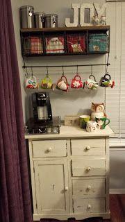 I want a coffee corner like this!