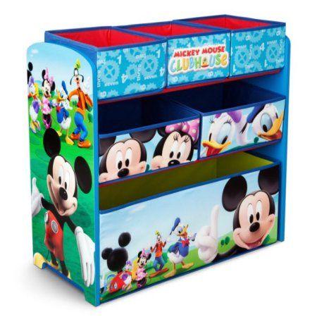 Delta Children Disney Mickey Mouse Multi-Bin Toy Organizer, Multicolor