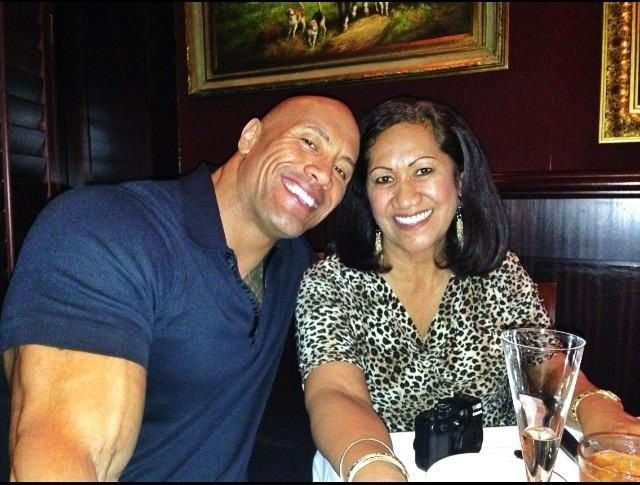 The Rock & His Mom! :)