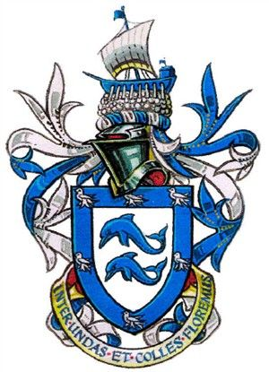 Photo:Arms and motto of the city of Brighton and Hove