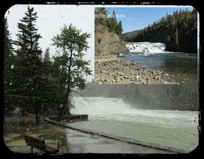 Peek thru our window....: Full, Fast and Furious: Bow Falls, Banff Alberta